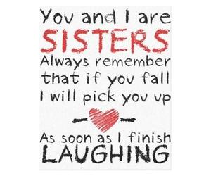 sisters, love, and quote image