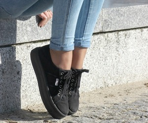 shoes, vans, and jeans image
