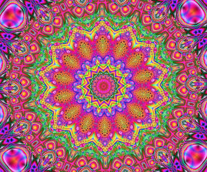 colors, kaleidoscope, and pattern image