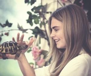 cara delevingne, model, and turtle image
