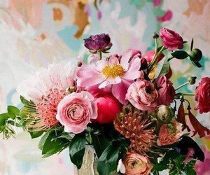 bouquet, flower, and ваза image
