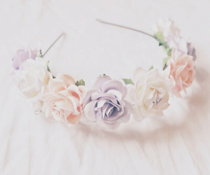 flowers, pastel, and girly image
