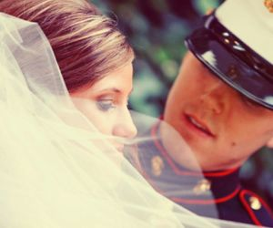 bride, broom, and military image