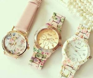 fashion, flower print, and watch image