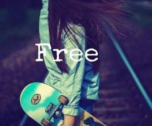 free, girl, and skate image