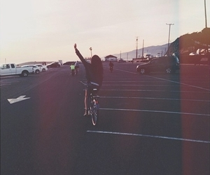 girl, bike, and grunge image