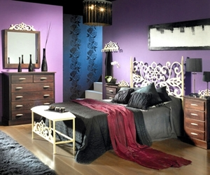 bedroom, dark, and lovely image