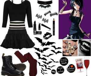 outfit, Polyvore, and vampire kisses image