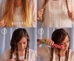 diy, hairstyle, and tutorial image