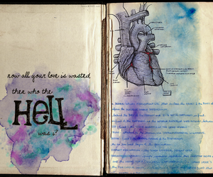 anatomy, hell, and watercolor image