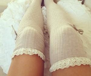 socks, girly, and legs image