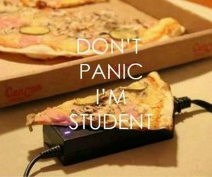 student, pizza, and food image