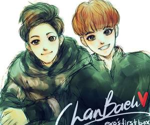 baekyeol, exo, and fanart image