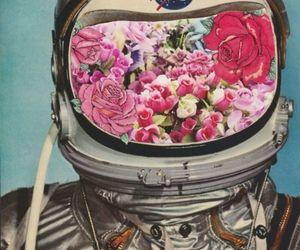 flowers, nasa, and astronaut image
