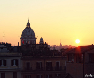 italy, rome, and sunset image
