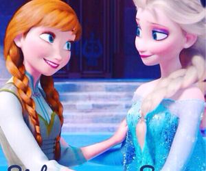 sisters, anna, and frozen image