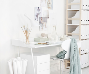 white, officce, and decor image