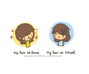 hair, funny, and school image