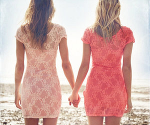 pink, summer, and dress image