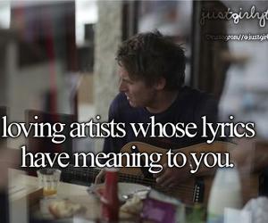 Lyrics, music, and artist image