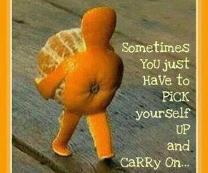 orange, quotes, and carry on image
