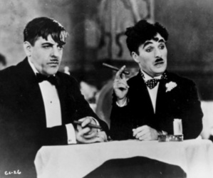 black and white, movies, and charlie chaplin image