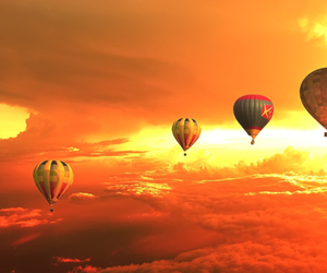 sky, balloons, and photo image