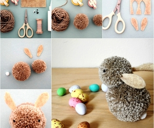 bunny, diy, and pom pom image