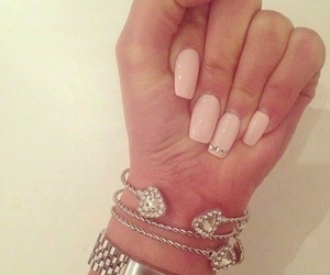nails, pink, and bracelet image
