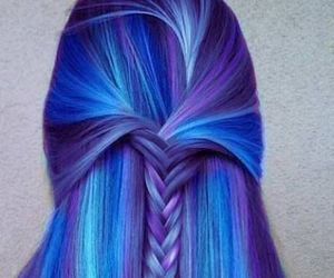awesome, cabelo, and colorful image