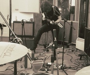 drums, guitar, and music image