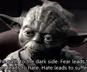 black and white, quotes, and star wars image