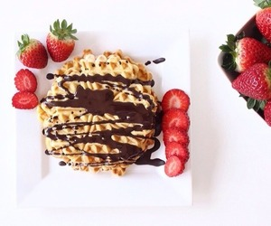 strawberry, breakfast, and chocolate image