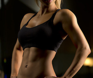 abs, arms, and blonde image