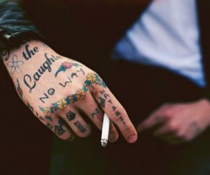 tattoo, cigarette, and boy image