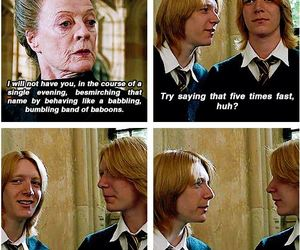 goblet of fire, yule ball, and fred and george weasley image