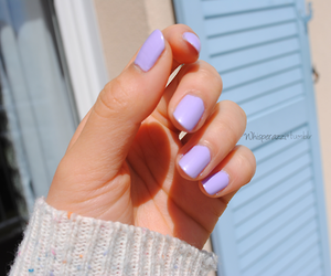 nails, purple, and tumblr image
