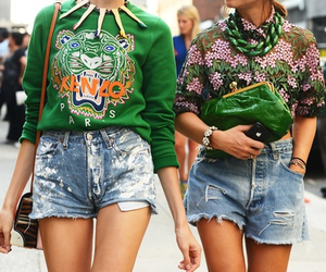 fashion, Kenzo, and green image