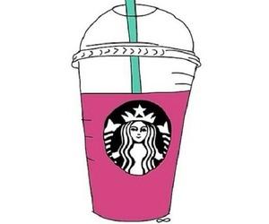 starbucks, pink, and overlay image
