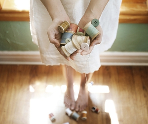 buttons, dress, and hands image