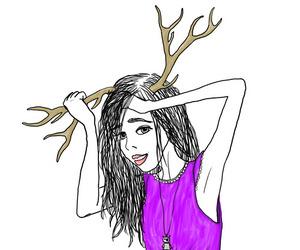 antler, girl, and valerism image