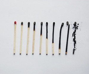 fire, match, and grunge image