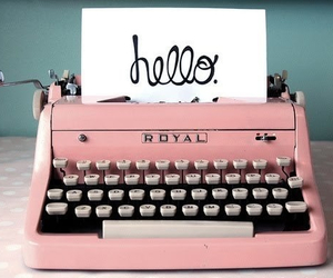 hello, Paper, and pink image