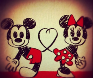 disney, draw, and heart image