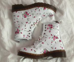 boots, fashion, and flower image