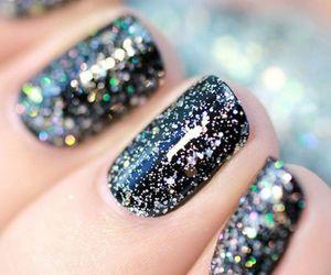 nails, glitter, and beautiful image