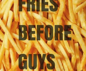 food, fries, and quote image