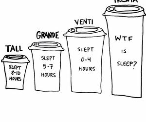 coffee, sleep, and starbucks image