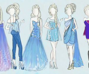 frozen, elsa, and dress image