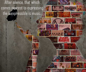 music, silence, and quotes image
